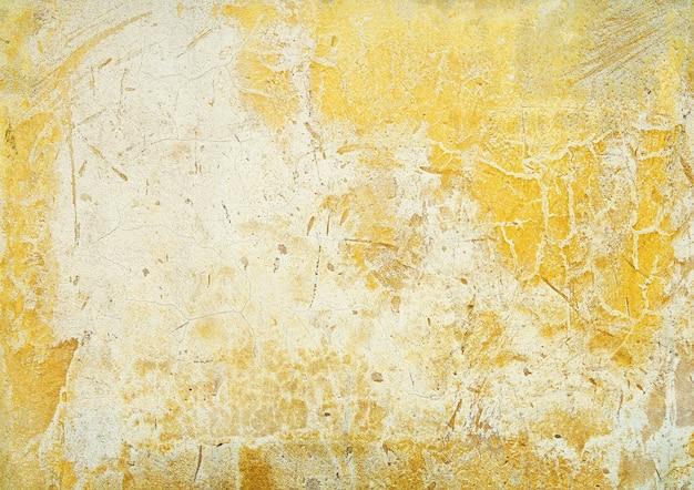 Желтый цвет старой бетонной стены текстура фон Premium Фотографии