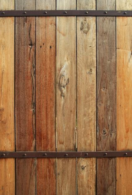 古い木製の壁の背景 Premium写真
