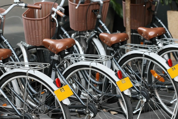 ビンテージ自転車 Premium写真