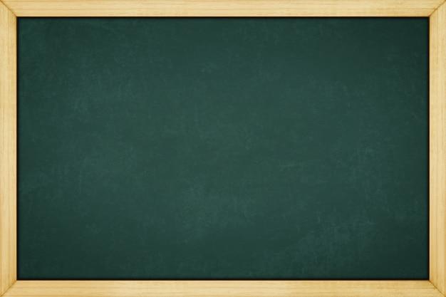 コピースペースを持つ背景テクスチャのための木製のフレームと黒板 Premium写真