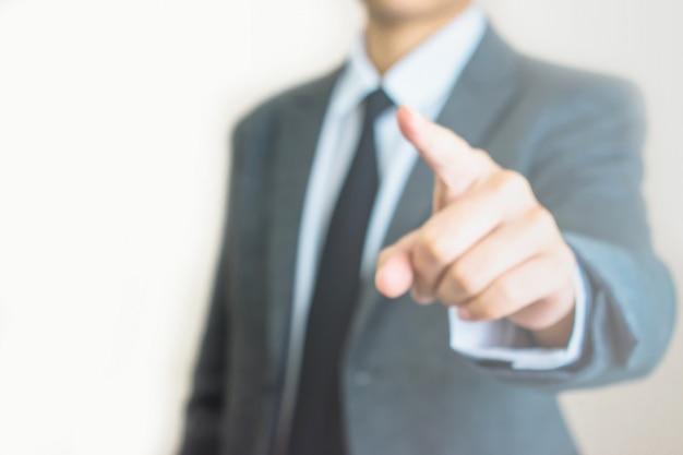 ビジネスマンの手をぼかし Premium写真