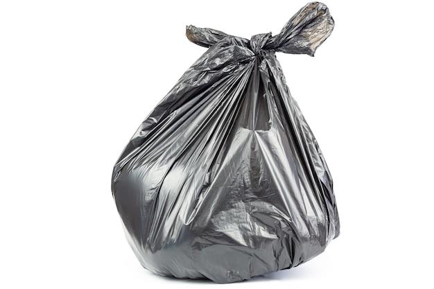 ゴミ袋は、白い背景に隔離されています。 Premium写真
