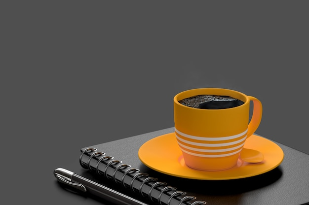 コーヒーミルクの最小概念 Premium写真