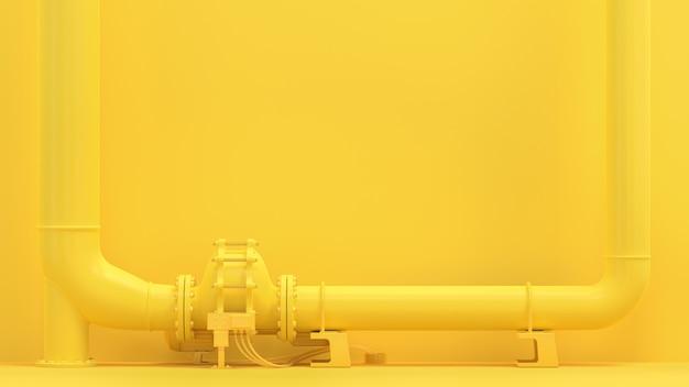 黄色のパイプライン Premium写真