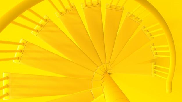 Лестницы желтого цвета сверху Premium Фотографии
