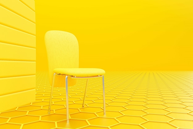 黄色い椅子 Premium写真