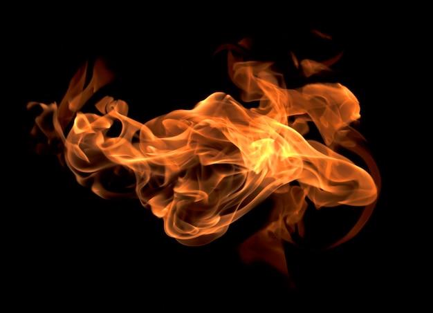 火の炎の背景 Premium写真