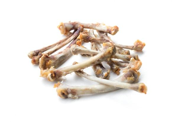 フライドチキンの骨の分離 Premium写真