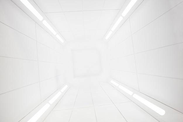 Космический корабль изнутри с ярко-белой текстурой, Premium Фотографии
