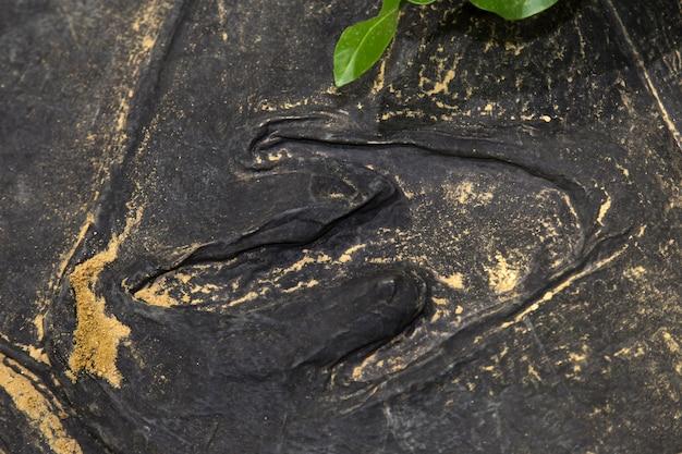 恐竜の足跡 Premium写真