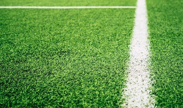 室内サッカーサッカー練習場の境界線 Premium写真