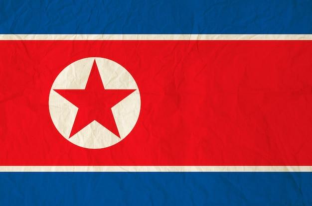 朝鮮民主主義人民共和国の国旗 Premium写真