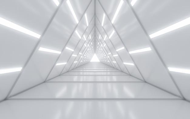 照らされた廊下のインテリアデザイン Premium写真