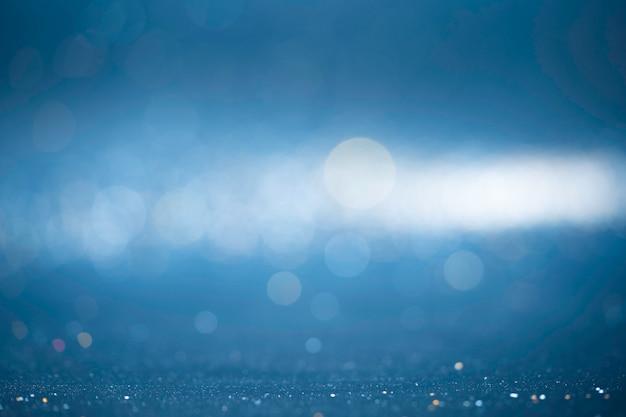 キラキラビンテージライトの背景。背景のボケ味の抽象的なライト Premium写真