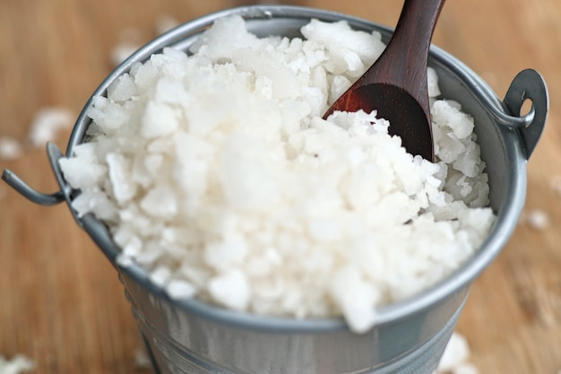 白い塩の山 Premium写真