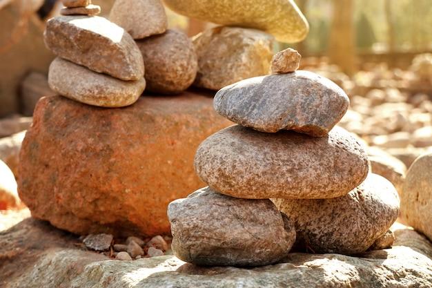 禅石のスタック Premium写真