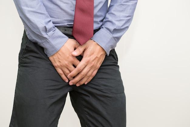 Симптомы рака простаты, небольшая ореховидная железа у мужчин, которая производит семенную жидкость, которая питает и транспортирует сперму Premium Фотографии