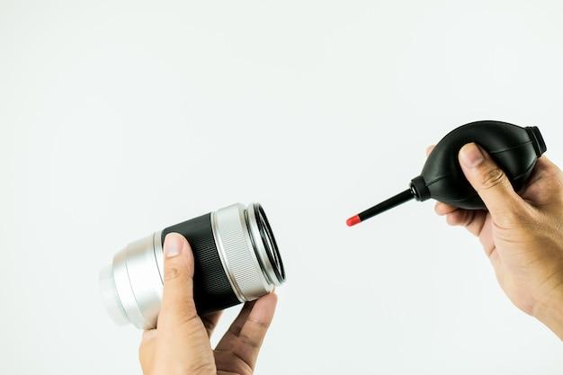 カメラレンズのクリーニング方法 Premium写真