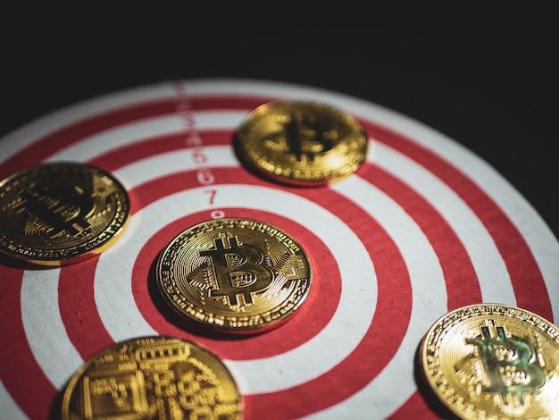 ターゲット付きデジタル通貨ビットコイン Premium写真