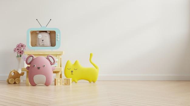 Стена модель-макета в комнате детей на стене красит белую предпосылку. Бесплатные Фотографии