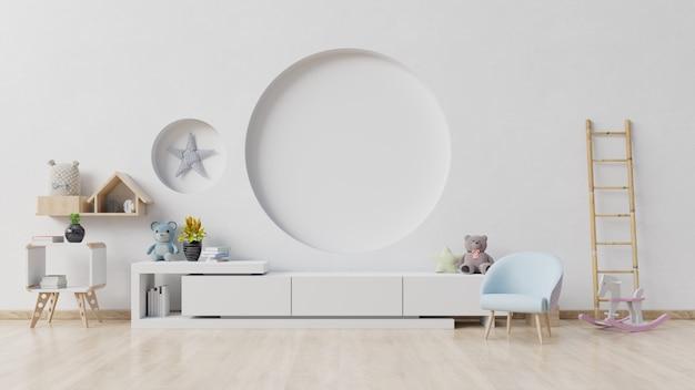 Детская комната с мольбертом, креслом и шкафом Premium Фотографии