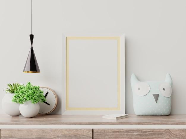 Макет плакаты в детской комнате интерьер. Premium Фотографии