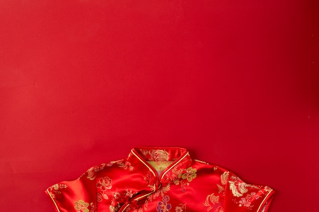中国の新年赤い背景。 Premium写真