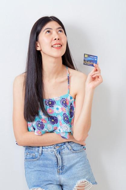 女性持株クレジットカード夏休み Premium写真