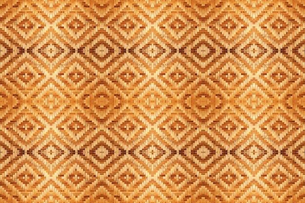 シームレスな背景の抽象的な竹の織り目加工のテクスチャです。 Premium写真