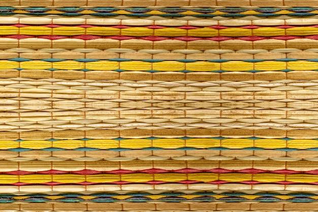 Цветные узоры фона для бамбуковых ковриков Premium Фотографии
