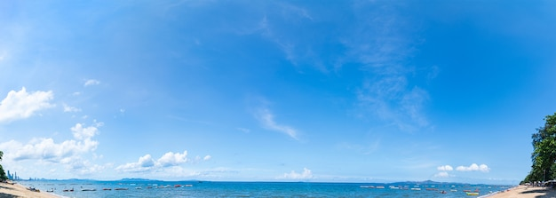 パタヤビーチの空中パノラマビュー Premium写真