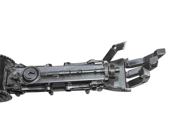Рука киборгской скульптуры из металлолома Premium Фотографии