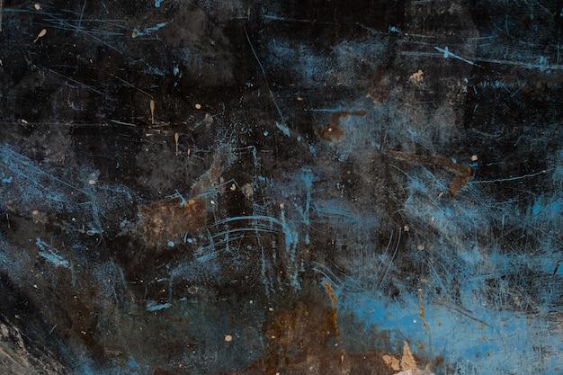 Металлическая ржавчина фон, распад стали, металлическая текстура с царапинами и трещинами Premium Фотографии