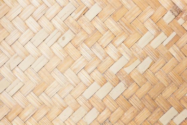 Крупным планом тканые бамбуковые картины Premium Фотографии