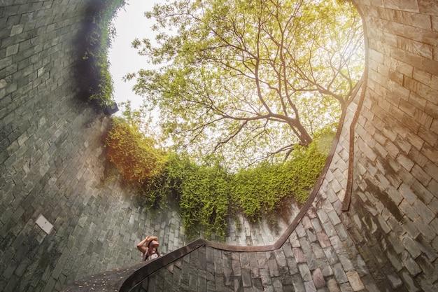 Путешествие в форт каннинг парк в сингапуре Premium Фотографии