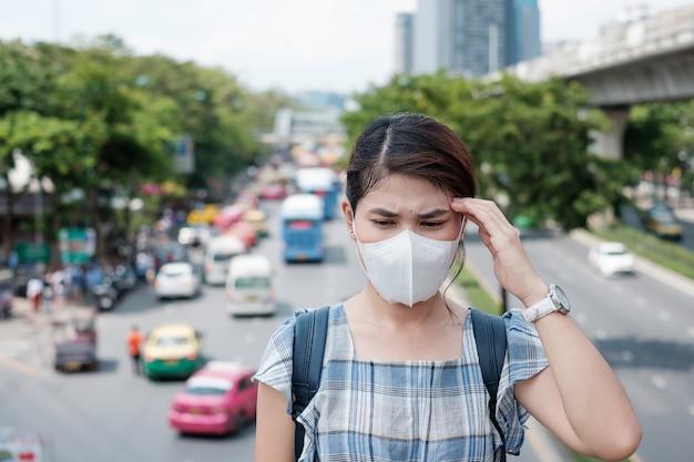 Концепция здравоохранения и загрязнения воздуха Premium Фотографии