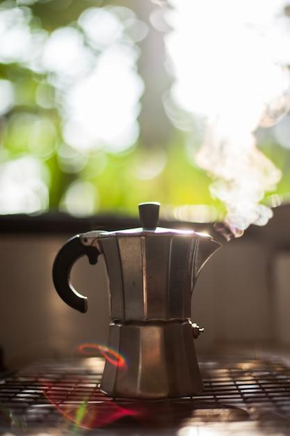Кофеварка мока Premium Фотографии