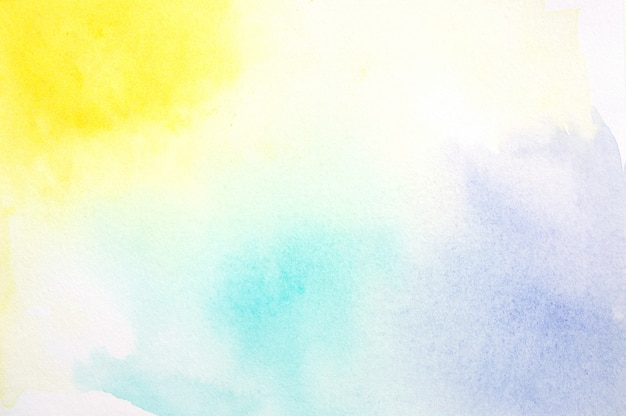 カラフルな水彩画 Premium写真