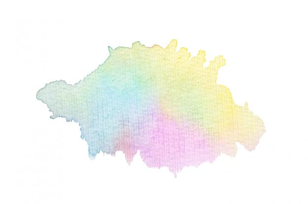 カラフルな水彩画の汚れ Premium写真