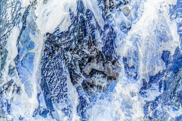 石または岩と氷のテクスチャと背景。 Premium写真
