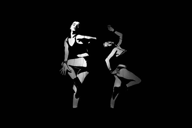 壁で踊る 無料写真