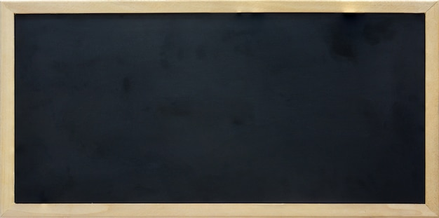 木製フレーム、コピースペースを持つ空白の長方形黒板 Premium写真