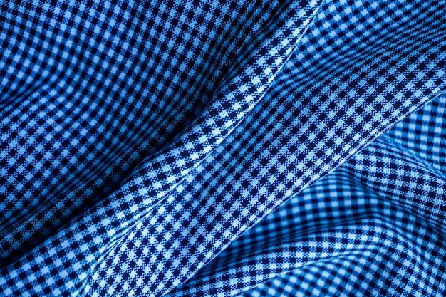背景や表面の青い波パターン生地 Premium写真