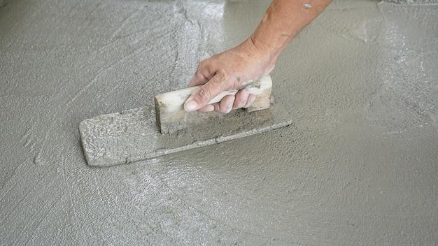 Строительство - штукатур бетон Premium Фотографии