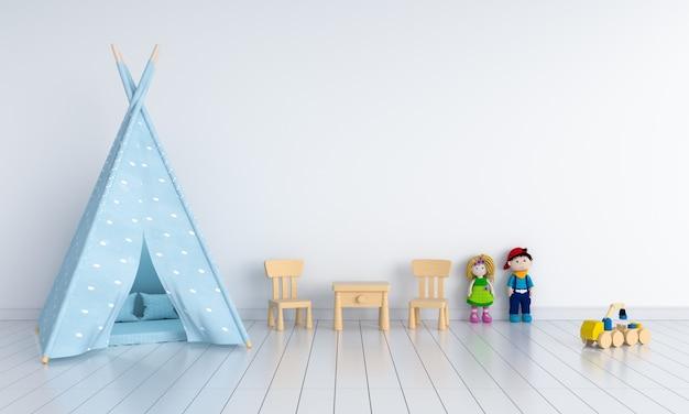 モックアップのための子供部屋のインテリアのティーピー Premium写真