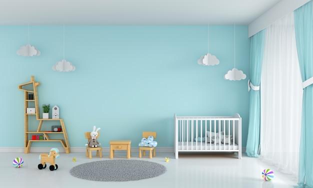 Светло-зеленый интерьер детской комнаты Premium Фотографии