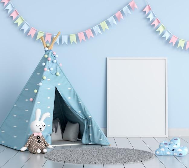 子供部屋の空白のフォトフレーム Premium写真