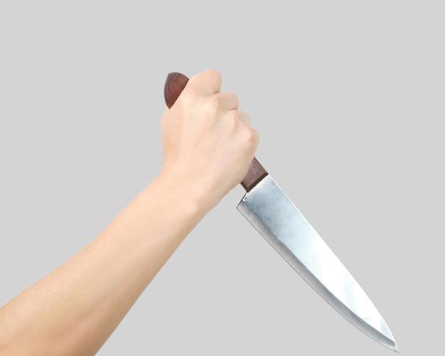両手分離ナイフ。殺人の概念 Premium写真