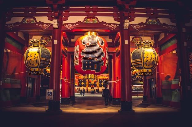 雷門寺浅草寺 - 浅草地区、東京 Premium写真