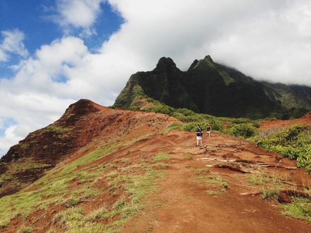 山とスカイ 無料写真